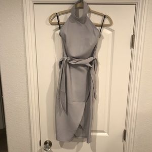 Missguided grey cocktail dress